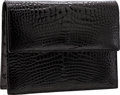 Luxury Accessories:Bags, Lana Marks Shiny Black Crocodile Clutch Bag. ...