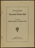 "Autographs:Bats, 1921 ""The Fundamentals of Successful Basket Ball Part Four byGeorge W. Levis Publication...."