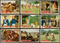 Non-Sport Cards:Sets, 1956 Topps Davy Crockett - Orange High End Near Set (76). ...