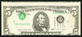 Error Notes:Inverted Third Printings, Fr. 1979-G $5 1988 Federal Reserve Note. Very Fine.. ...