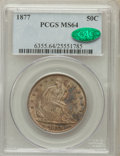 Seated Half Dollars, 1877 50C MS64 PCGS. CAC....
