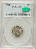Barber Dimes, 1901 10C MS66+ PCGS. CAC....