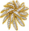 Estate Jewelry:Brooches - Pins, Diamond, Platinum, Gold Brooch, French. ...