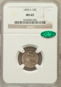 Seated Dimes, 1890-S 10C MS65 NGC. CAC....