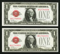 Small Size:Legal Tender Notes, Fr. 1500 $1 1928 Legal Tender Note. Crisp Uncirculated.. ... (Total: 2 notes)