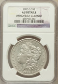Morgan Dollars, 1895-S $1 -- Improperly Cleaned -- NGC Details. AU. VAM-4....