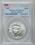 Modern Bullion Coins, 2007 $100 First Strike One-Ounce Platinum Eagle MS70 PCGS. PCGSPopulation (14). NGC Census: (0). Numismedia Wsl. Price fo...