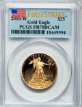 Modern Bullion Coins, 2010-W $25 Half-Ounce Gold Eagle, First Strike PR70 Deep CameoPCGS. PCGS Population (338). NGC Census: (0). . From The ...