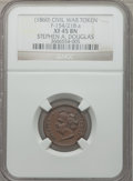 Civil War Patriotics, 1863 Stephen A. Douglas XF45 NGC, Fuld-154/218a; 1864 Liberty ForAll XF45 NGC, Fuld-160/417a; and an Undated Union For Ev... (Total:3 tokens)