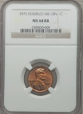 Lincoln Cents: , 1972 1C Doubled Die Obverse MS64 Red and Brown NGC. NGC Census:(238/172). PCGS Population (279/96). Mintage: 75,000. Numis...