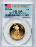 Modern Bullion Coins, 2012-W $25 Half-Ounce Gold Eagle, First Strike PR70 Deep CameoPCGS. PCGS Population (181). NGC Census: (0). . From The ...