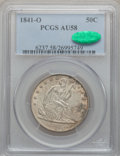 Seated Half Dollars, 1841-O 50C AU58 PCGS. CAC. WB-1....