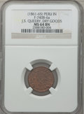 Civil War Merchants, (1861-65) J.S. Queeby, Dry Goods, Peru, IN, MS64 Brown NGC.Fuld-IN740B-6a....