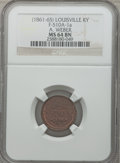 Civil War Merchants, (1861-65) A. Weber, Louisville, KY, MS64 Brown NGC.Fuld-KY510A-1a....