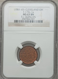 Civil War Merchants, (1861-65) T.J. Quinlan, Cleveland, OH, MS63 Brown NGC.Fuld-OH175L-1a....