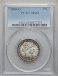 Barber Quarters, 1898-O 25C MS62 PCGS....