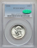 Washington Quarters, 1950 25C MS67 PCGS. CAC....