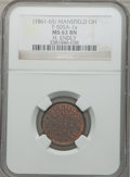 Civil War Merchants, (1861-65) Hl. Endly, Mansfield, OH, MS63 Brown NGC.Fuld-OH505A-1a....