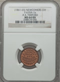 Civil War Merchants, (1861-65) A.S. Twiford, Newcomers, OH., MS64 Red and Brown NGC.Fuld-OH610A-1a....