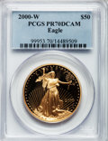 Modern Bullion Coins: , 2000-W G$50 One-Ounce Gold Eagle PR70 Deep Cameo PCGS. PCGS Population (115). NGC Census: (549). Numismedia Wsl. Price for...