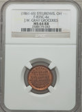 Civil War Merchants, (1861-65) J.W. Gray Groceries, Steubenville, OH, MS64 Red and BrownNGC. Fuld-OH835C-4a....