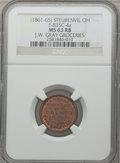 Civil War Merchants, (1861-65) J.W. Gray Groceries, Steubenville, OH, MS63 Red and BrownNGC. Fuld-OH835C-4a....
