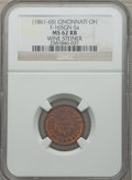Civil War Merchants, (1861-65) Wine Steiner, Cincinnati, OH, MS62 Red and Brown NGC.Fuld-OH165GN-5a....