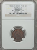Civil War Merchants, (1861-65) M. Lindermann, Cincinnati, OH, MS63 Brown NGC.Fuld-OH165DE-3a....