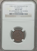 Civil War Merchants, (1861-65) W. Johnston, Die Sinker, Cincinnati, OH, MS62 Brown NGC.Fuld-OH165CF-2a....