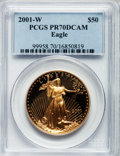 Modern Bullion Coins: , 2001-W G$50 One-Ounce Gold Eagle PR70 Deep Cameo PCGS. PCGS Population (93). NGC Census: (502). Numismedia Wsl. Price for ...