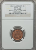 Civil War Merchants, 1863 Fred Loeffler, Grocer, Massillon, OH, MS64 Red and Brown NGC.Fuld-OH535C-2a....