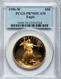 Modern Bullion Coins: , 1996-W G$50 One-Ounce Gold Eagle PR70 Deep Cameo PCGS. PCGSPopulation (126). NGC Census: (486). Numismedia Wsl. Price for...