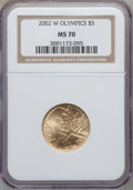 Modern Issues, 2002-W $5 Olympics Gold Five Dollar MS70 NGC. NGC Census: (628).PCGS Population (225). Numismedia Wsl. Price for problem ...