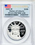 Modern Bullion Coins, 2009-W $100 First Strike One Ounce Platinum Eagle PR70 Deep CameoPCGS. PCGS Population (471). NGC Census: (0).. From The...