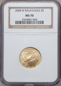 Modern Issues, 2008-W G$5 Bald Eagle MS70 NGC. NGC Census: (907). PCGS Population(485). Numismedia Wsl. Price for problem free NGC/PCGS ...