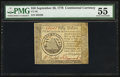 Colonial Notes:Continental Congress Issues, Continental Currency September 26, 1778 $50 PMG About Uncirculated55.. ...