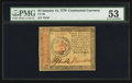 Colonial Notes:Continental Congress Issues, Continental Currency January 14, 1779 $3 PMG About Uncirculated53.. ...