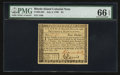 Colonial Notes:Rhode Island, Rhode Island July 2, 1780 $4 PMG Gem Uncirculated 66 EPQ.. ...