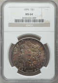 Morgan Dollars: , 1890 $1 MS64 NGC. NGC Census: (4053/304). PCGS Population(3528/422). Mintage: 16,802,590. Numismedia Wsl. Price forproble...