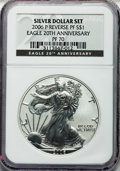 Modern Bullion Coins, 2006-P $1 Reverse Proof Silver Eagle, 20th Anniversary PR70 NGC.NGC Census: (10044). PCGS Population (1888). Numismedia W...