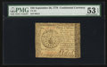 Colonial Notes:Continental Congress Issues, Continental Currency September 26, 1778 $40 PMG About Uncirculated53 EPQ.. ...