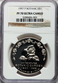 Modern Issues: , 1997-P $1 Botanic Gardens Silver Dollar PR70 Ultra Cameo NGC. NGCCensus: (48). PCGS Population (47). Mintage: 189,671. Num...