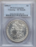 Morgan Dollars, 1896-S $1 -- Cleaning -- Genuine PCGS. XF Details. NGC Census:(89/1062). PCGS Population (194/1866). Mintage: 5,000,000. N...