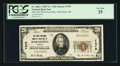 National Bank Notes:Oregon, Marshfield, OR - $20 1929 Ty. 1 The First NB of Coos Bay Ch. # 7475. ...