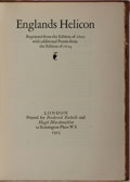Books:Fine Press & Book Arts, [Shakespeare Head Press]. Englands Helicon. Reprintedfrom the Edition of 1600... London: Printed for Etchells a...