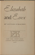 Books:Biography & Memoir, Lytton Strachey. SIGNED. Elizabeth and Essex. New York:Crosby Gaige; London: Chatto & Windus, 1928. Signed by S...