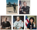 Autographs:Celebrities, Astronauts and Aviators: Five Signed Photos. ... (Total: 5 Items)