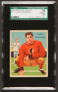 Football Cards:Singles (Pre-1950), 1935 National Chicle Turk Edwards #11 SGC 55 VG/EX+ 4.5....