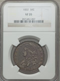 Bust Half Dollars: , 1832 50C Small Letters VF35 NGC. NGC Census: (48/1801). PCGSPopulation (103/1878). Mintage: 4,797,000. Numismedia Wsl. Pri...