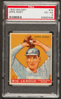 Baseball Cards:Singles (1930-1939), 1933 Goudey Eppa Rixey #74 PSA VG-EX 4....